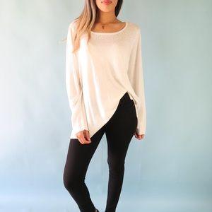 NYDJ Rhinestone Pullover Sweater in Vanilla